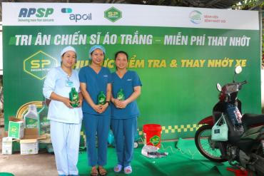 SAIGON PETRO LUBRICANT ORGANIZED FREE OIL CHANGING TO BE GRATEFUL TO DOCTORS IN HOSPITAL FOR TROPICAL DISEASES