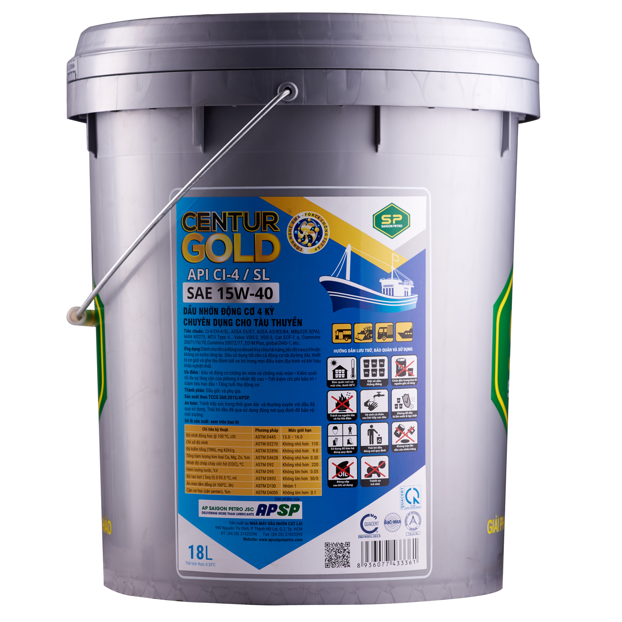 SP CENTUR GOLD CI-4/SL 15W-40