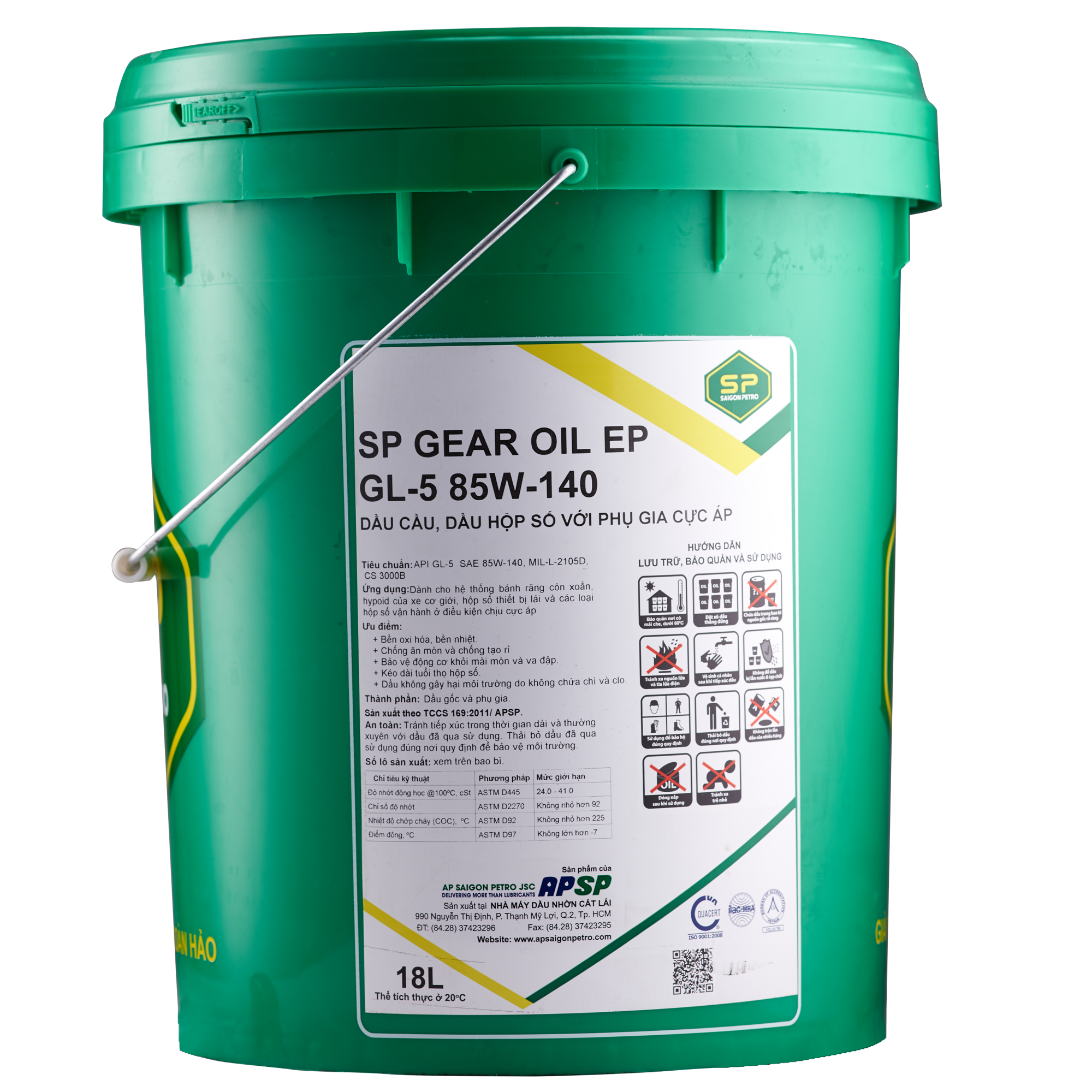 SP GEAR OIL EP GL-5 85W-140